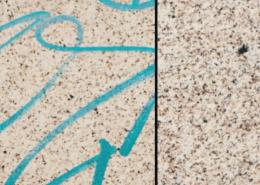 Vlhčené obrúsky Graffiti SafeWipes v akcii - pred a po čistení