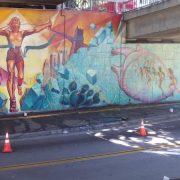 Vandaly posprejovaný street art, který byl ošetřen revitalizačním nátěrem Muralshield, po vyčištění - po graffiti není ani stopa.
