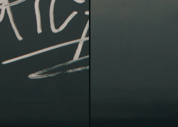 Vlhčené obrúsky Graffiti SafeWipes v akcii - pred a po vyčistení tagov