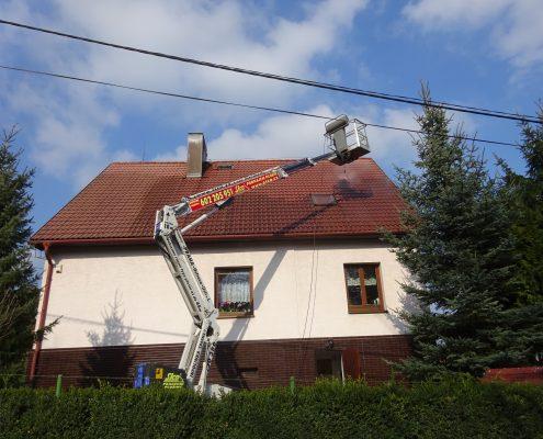 Wapkování střechy z plošiny